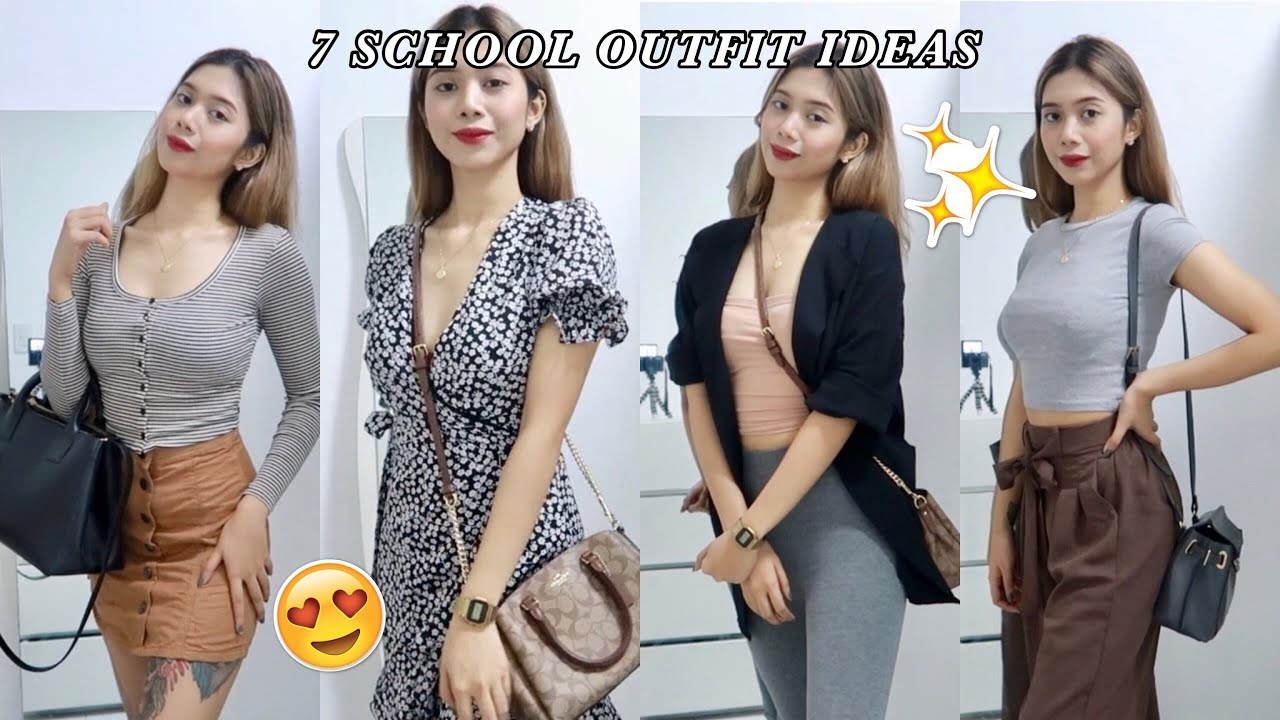 BACK TO SCHOOL OUTFIT IDEAS 2019 + RAINY SEASON OUTFITS