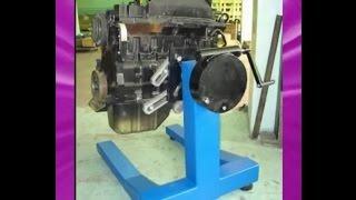 Стенд кантователь (переворотник) для ремонта двигателя своими руками. Stand for engine repair.