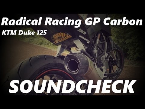 radical racing gp carbon on ktm duke 125 soundcheck. Black Bedroom Furniture Sets. Home Design Ideas