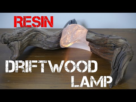 DIY Hybrid Resin & Driftwood Lamp