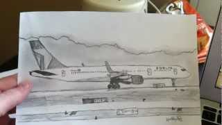 Delta Airlines Boeing 757-200W Drawing