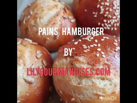 Recette Pains hamburger maison