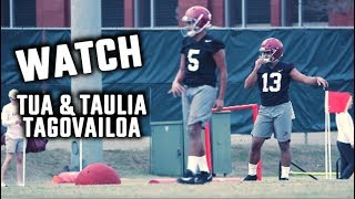 Watch Tua And Taulia Tagovailoa At First Spring Practice Of 2019
