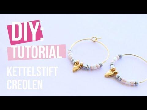 Sieraden maken: Kettelstift creolen oorbellen ♡ DIY