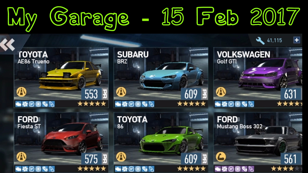 No Limits Garage : Need for speed no limits my garage february