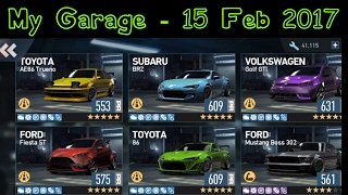 Need for Speed: No Limits | My Garage | 15 February 2017