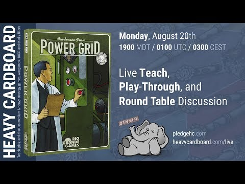 Power Grid 4p Play-through, Teaching, & Roundtable discussion by Heavy Cardboard