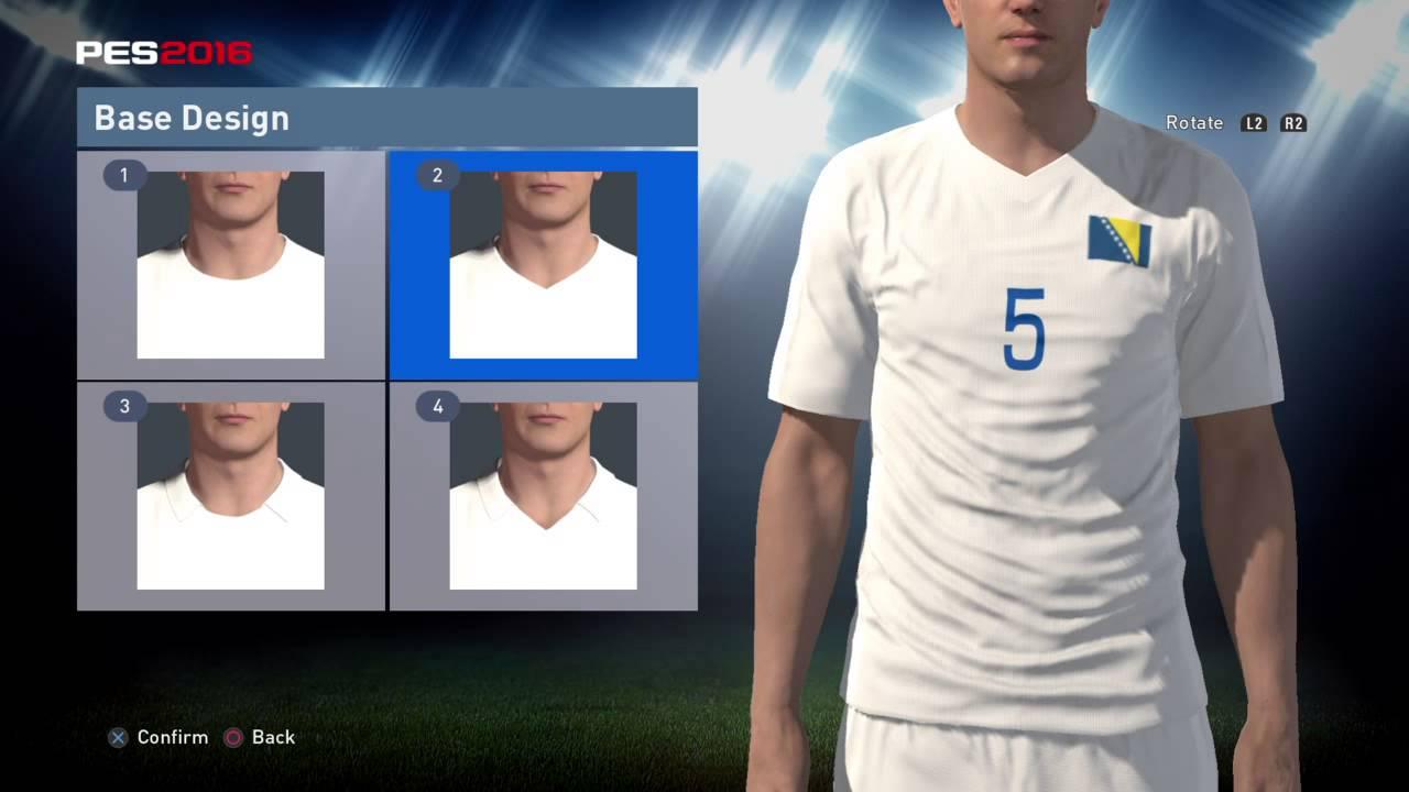 PES World PES 2016 Bosnia and Herzogovina Euro 2016 kit instructions