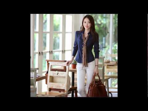 แฟชั่น เสื้อเชิ้ตทำงานแขนยาวสไตล์เกาหลี แบบสวยๆ สามารถใส่ทำงาน ใส่เที่ยวได้