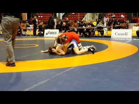 2016 Canadian Senior Championships: 58 kg Krystin Paquette vs. Hannah Taylor