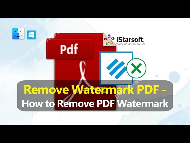 free download pdf watermark remover software