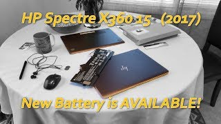 HP Spectre X360 15 (2017) New Replacement Battery AVAILABLE!