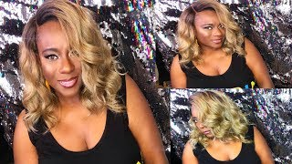 BOMB CURLY BOB WIG FOR SUMMER UNDER $30| BESHE DP.ZEN CURVE LACE PART WIG