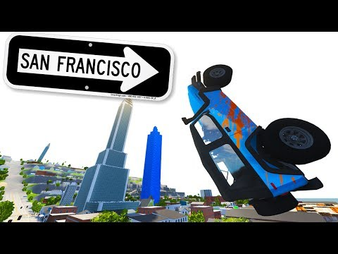 BeamNG Drive - HUGE SAN FRANCISCO MAP! TONS OF JUMPS!