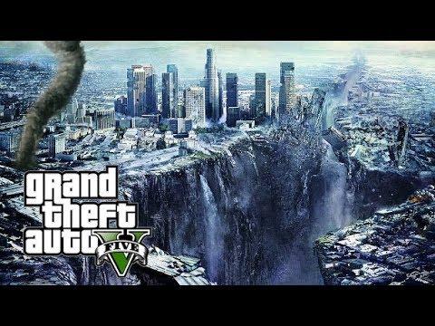 BIG EARTHQUAKE AND TORNADO! SAVING MY FAMILY!!! GTA 5 MOD MKELITE