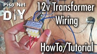 Repeat youtube video Pisonet DIY: 12v Transformer Wiring Tutorial [Tagalog]