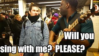 Asking random people to sing with me (in the subway)