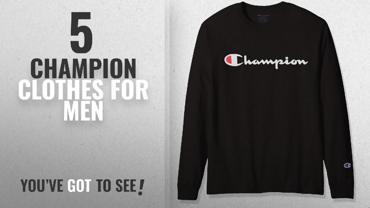 ff4d7221 Top 10 Champion Clothes [2018 ]: Champion Men's Classic Jersey Long Sleeve  Graphic T-Shirt, Screen