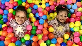 New 2016 Kids Fun Preschool Play Center- Indoor Playground Kids Toys Review with Naiah and Elli