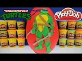 GIANT LEONARDO Surprise Egg Play Doh - TMNT Toys Funko Pop Mashems Transformers Minecraft