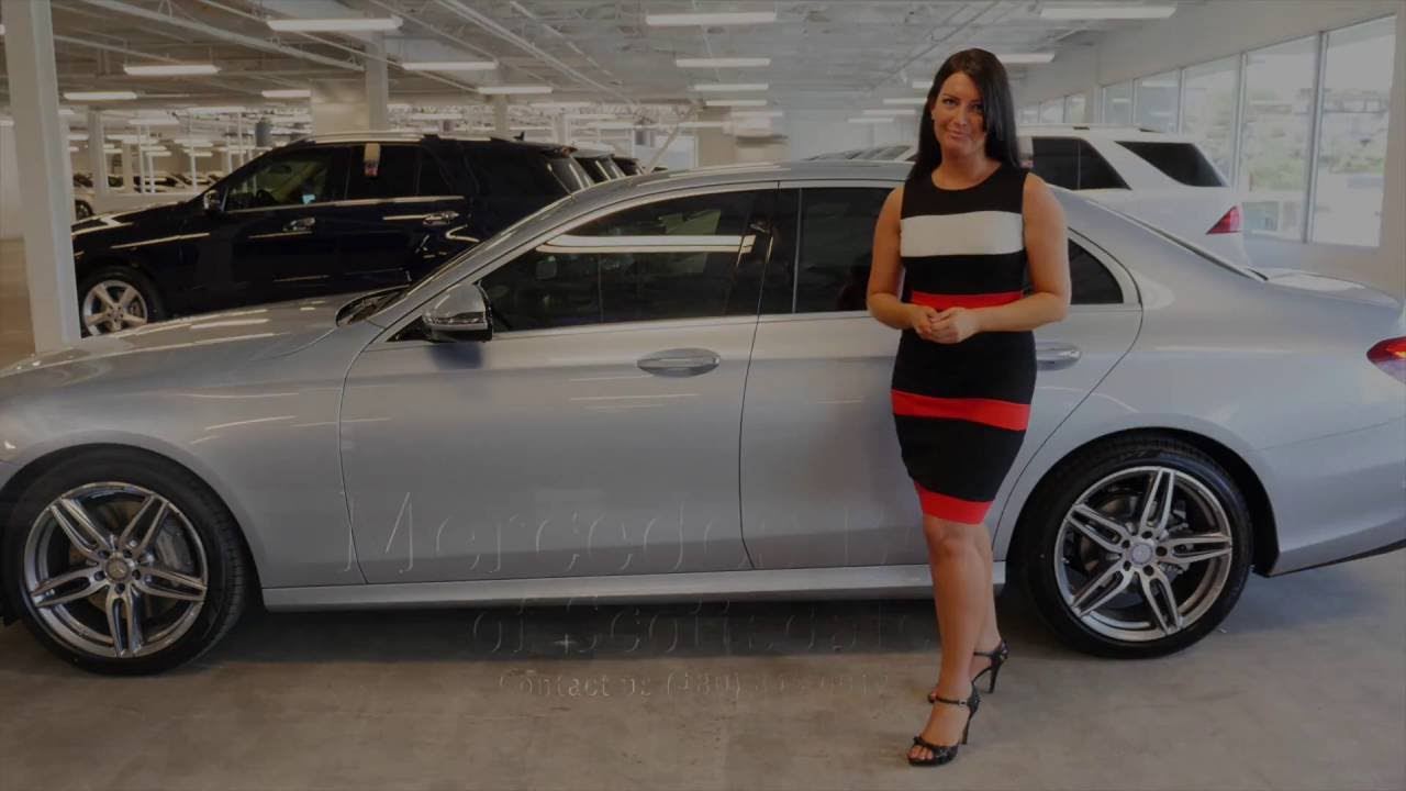 Mercedes Benz Of Scottsdale >> Jamie Showing The 2017 Mercedes Benz E Class E300 Luxury From Mercedes Benz Of Scottsdale