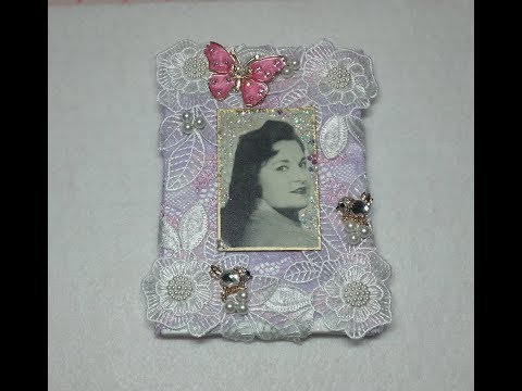 DIY~ Simple, Sparkly & Beautiful Remembrance Photo Frame For Christmas!
