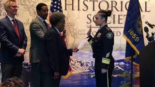 Portland Police Chief Outlaw Sworn In