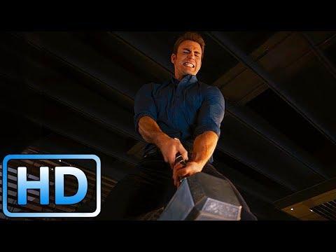 Мстители пытаются поднять Молот Тора / Мстители: Эра Альтрона (2015)