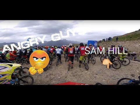Angry guys Ratboy, Sam HILL Megavalanche 2017 race MountainBike
