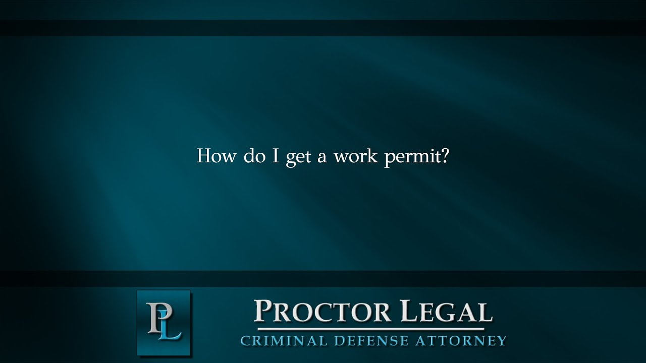 How do I get a work permit?