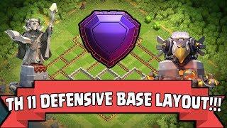 Clash Of Clans | NEW TH11 DEFENSE BASE / TROPHY BASE LAYOUT (LEGEND LEAGUE) 2017