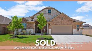 FOR SALE   20032 Abigail Way, Pflugerville TX   4 Bedroom   3 Bath   2,279 Sqft