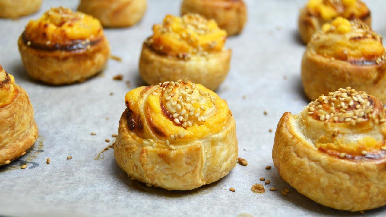 Espirales de hojaldre con bacon y queso aperitivos - Platos rapidos y sencillos ...