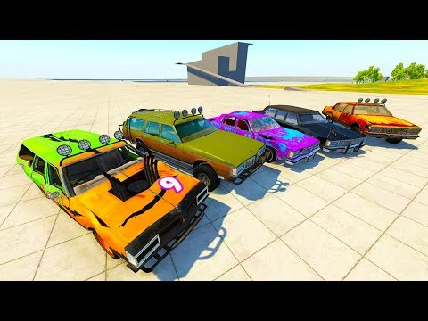 SUPER MONSTER TRUCK STATION WAGON & ARMORED CAR! - BeamNG Drive American