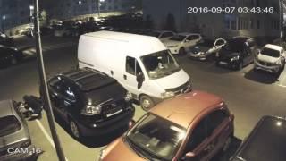 ЖК София ул  Боголюбова 14 поджог авто 07 09 2016