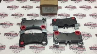 95535293964 Колодки тормозные задние (красный суппорт) Porsche Cayenne 957