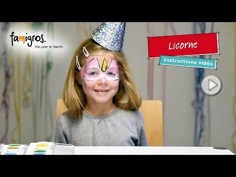 Famigros maquillage d\u0027enfant pour carnaval , Licorne