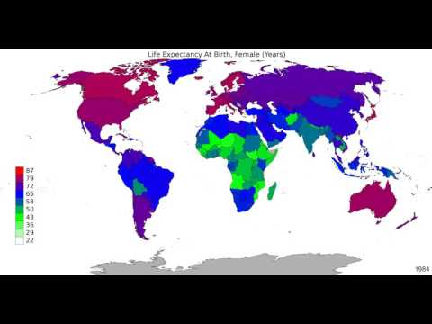 World - Life Expectancy At Birth, Female - Time Lapse