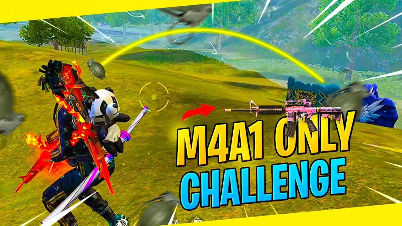 Only M4A1 Challange with Skull Punker Bundle Best 12 Kill Gameplay - Garena Free Fire- Total Gaming
