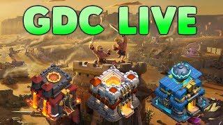 Clash of Clans - LIVE - GDC avec mes comptes HDV 9-10-11-12