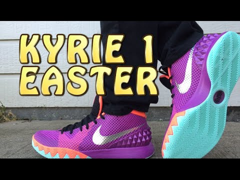 aa78a04aaf7e Kyrie 1 Easter Review with ON FEET - YouTube