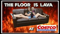 THE FLOOR IS LAVA CHALLENGE AT COSTCO || Taylor and Vanessa