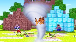 TORNADO VS. MINECRAFT NOOB BASE!