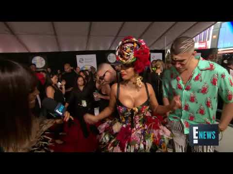 Cardi B ft Bad Bunny , J Balvin - I Like It ( Entrevista Exclusiva American Music Awards 2018)