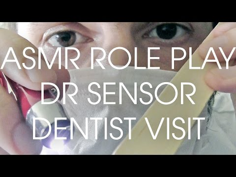 ASMR Dr Sensor Medical Dentist Role Play. Pure Binaural Teeth Examination Cleaning.