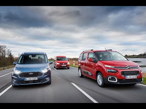 2019 Citroën Berlingo vs 2019 Ford Tourneo vs 2019 Volkswagen Caddy