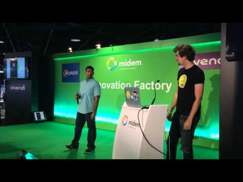 Spotify hackers demoing HappyClappy at MIDEM 2014