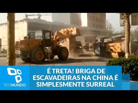 Briga de escavadeiras na China 2