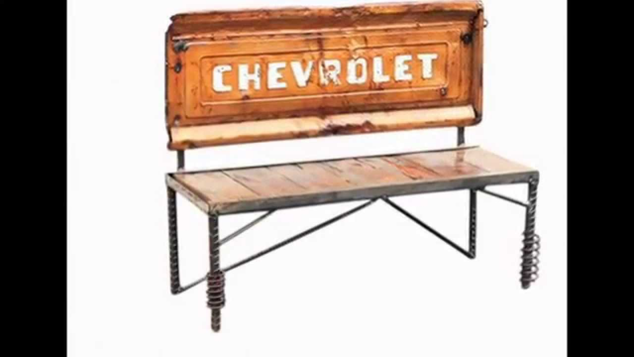 metal wood furniture tailgate bench by raymond guest youtube. Black Bedroom Furniture Sets. Home Design Ideas