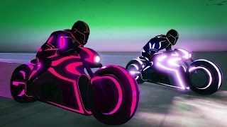 EPIC TRON DEADLINE KILLS! (GTA 5 Funny Moments)
